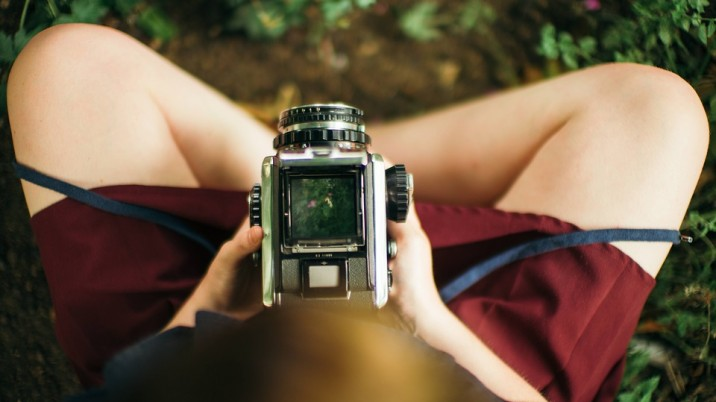 Girl Hipster Analog Camera Photography Camera